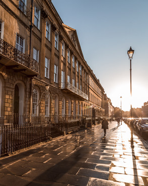 11 Great Pulteney Street, Sunset view, Bath, UK