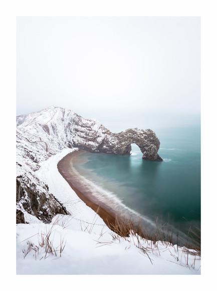 Durdle Door Snow - Dorset - March 2018 -
