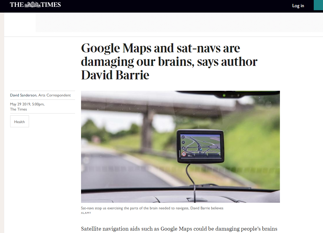 The Times - Sat Nav Article
