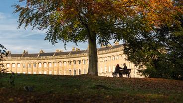 30 The Royal Crescent in Autumn, Bath UK