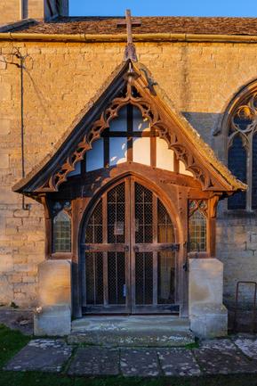 Owlpen - Holy Cross Church - Entrance doorway