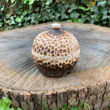 Small Obvara Raku Jar