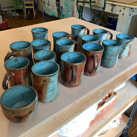 Studio shot showing a kiln load