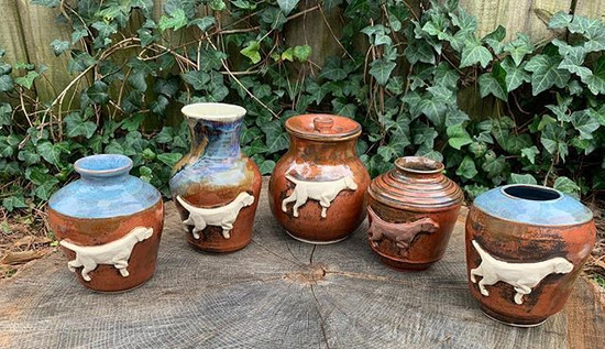 Hungarian Vizsla Custom Dog Vases