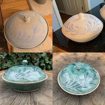 Lidded Serving bowl progress SHots