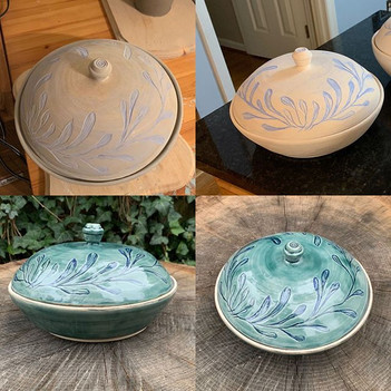 Lidded Serving bowl progress SHots