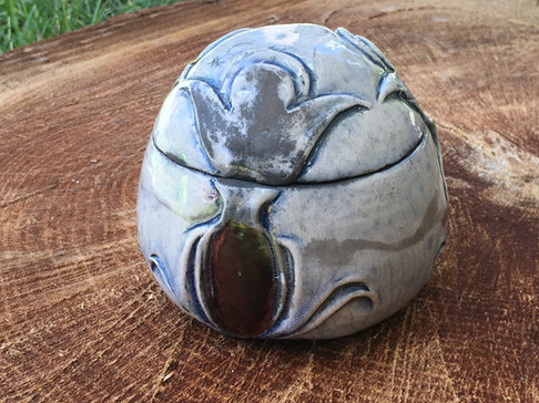 Raku Lidded Jar
