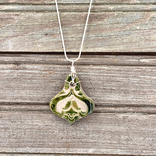 Green Lily Pendant