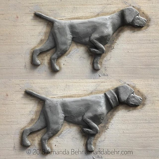Vizsla Sculpture in progress