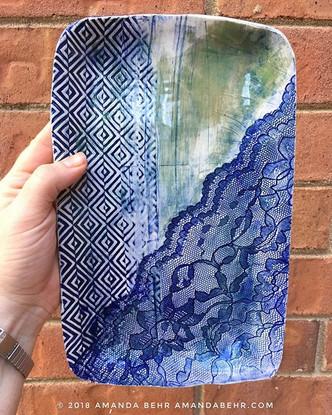 Blue Lace Tray