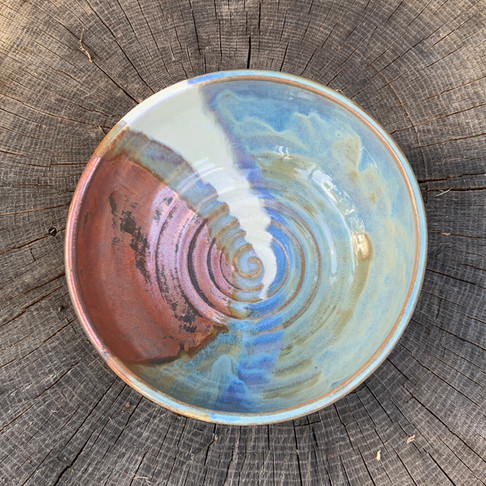 Fire and Ice Serving Bowl