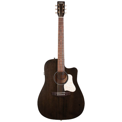 GUITARE FOLK ELECTRO ACOUSTIQUE | ART & LUTHERIE AMERICANA CUTAWAY QIT FADED BLACK | Indie MusicShop