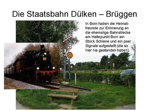 Die Staatsbahn Dülken-Brüggen Haltepunkt