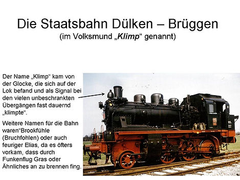 Staatsbahn Dülken-Brüggen, Klimp