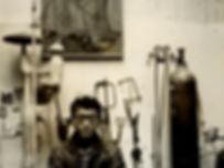 Tajiri in his studio, Paris