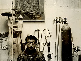 Tajiri in his studio, Paris