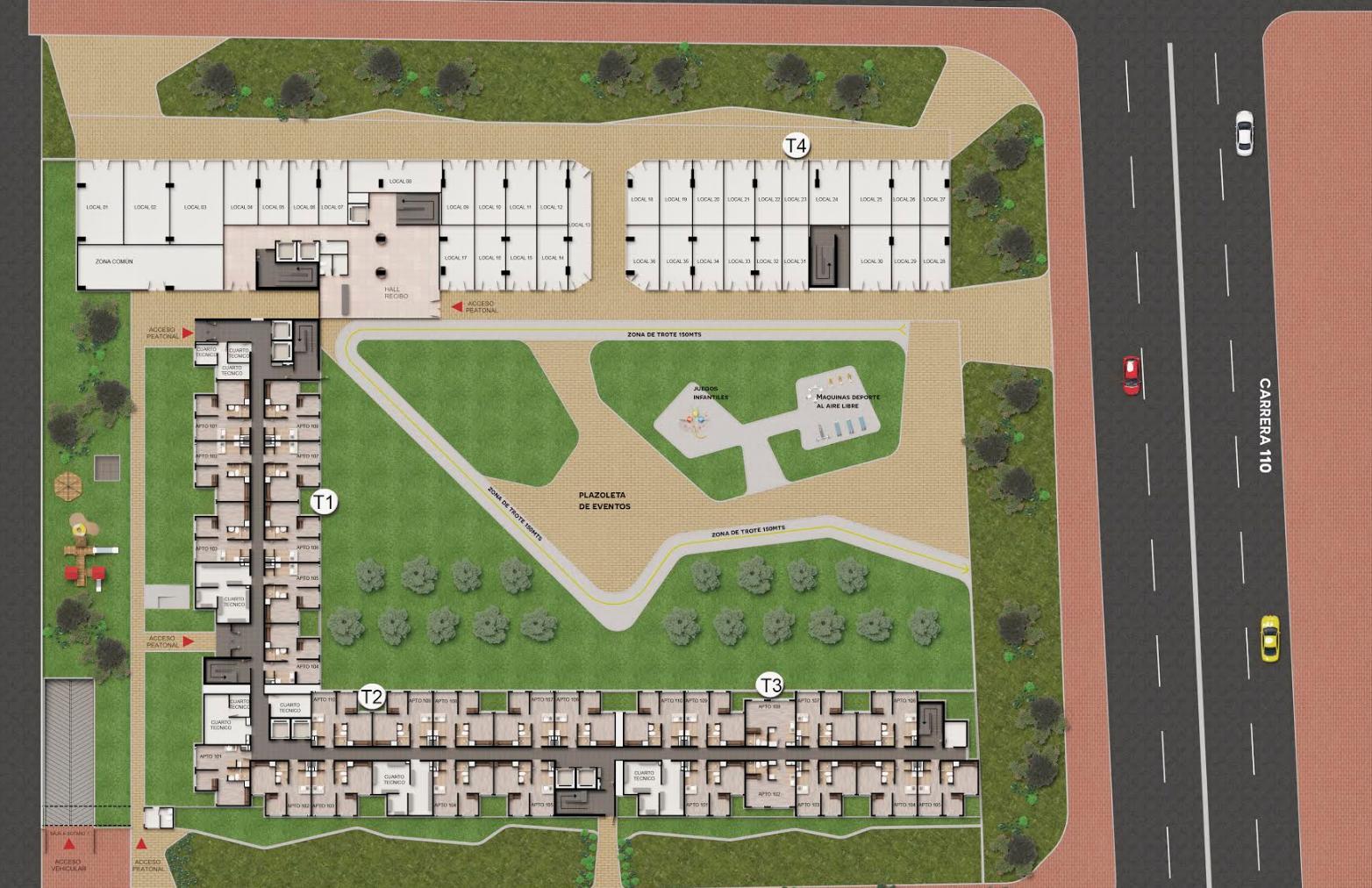 Rodeado de zonas verdes (más de 4.000 m2)
