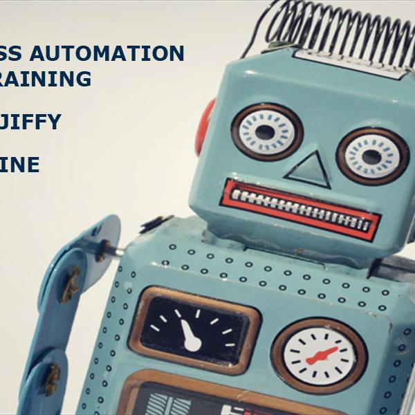 Jiffy ile Robotik Süreç Otomasyonu Eğitimi-Çevrimiçi (İngilizce)