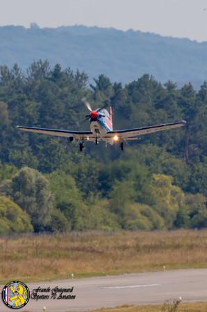 Pilatus PC9 pendant l'exercice CASEX 2018