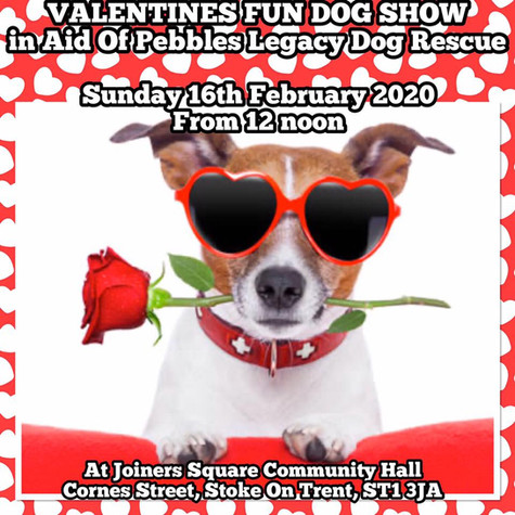 everyone welcome, lots of stalls, hot food and drinks, raffle, tombola and 15 fun dog show classes.