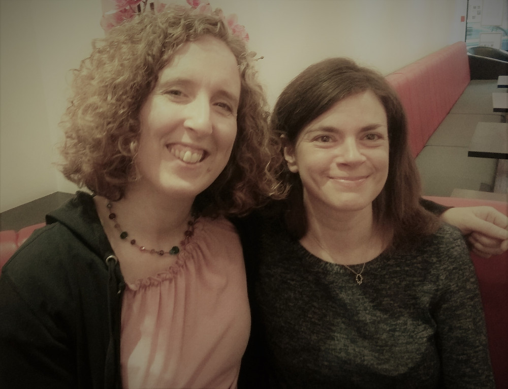 Photo of Liz Sheridan of BellyTots and Anna Newman Kutok of Anna Doula Support