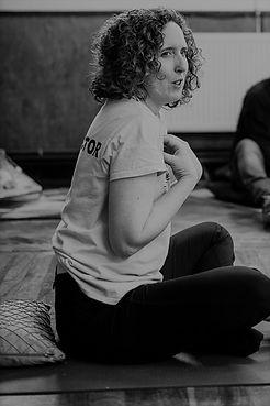 Black and white preg yoga instructor.jpg