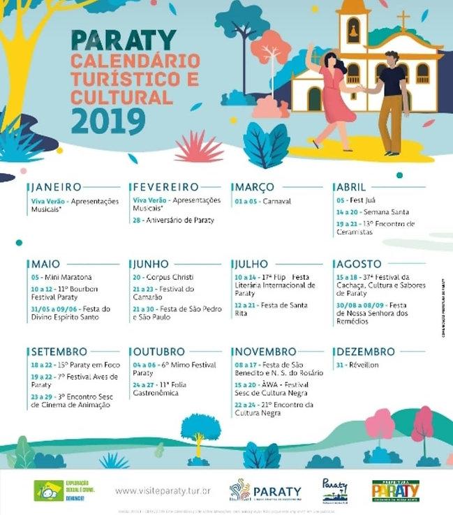 Paraty - Calendario Turistico e Cultural