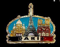 Imán metálico de francia souvenir