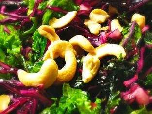 Spicy Raw Kale Salad