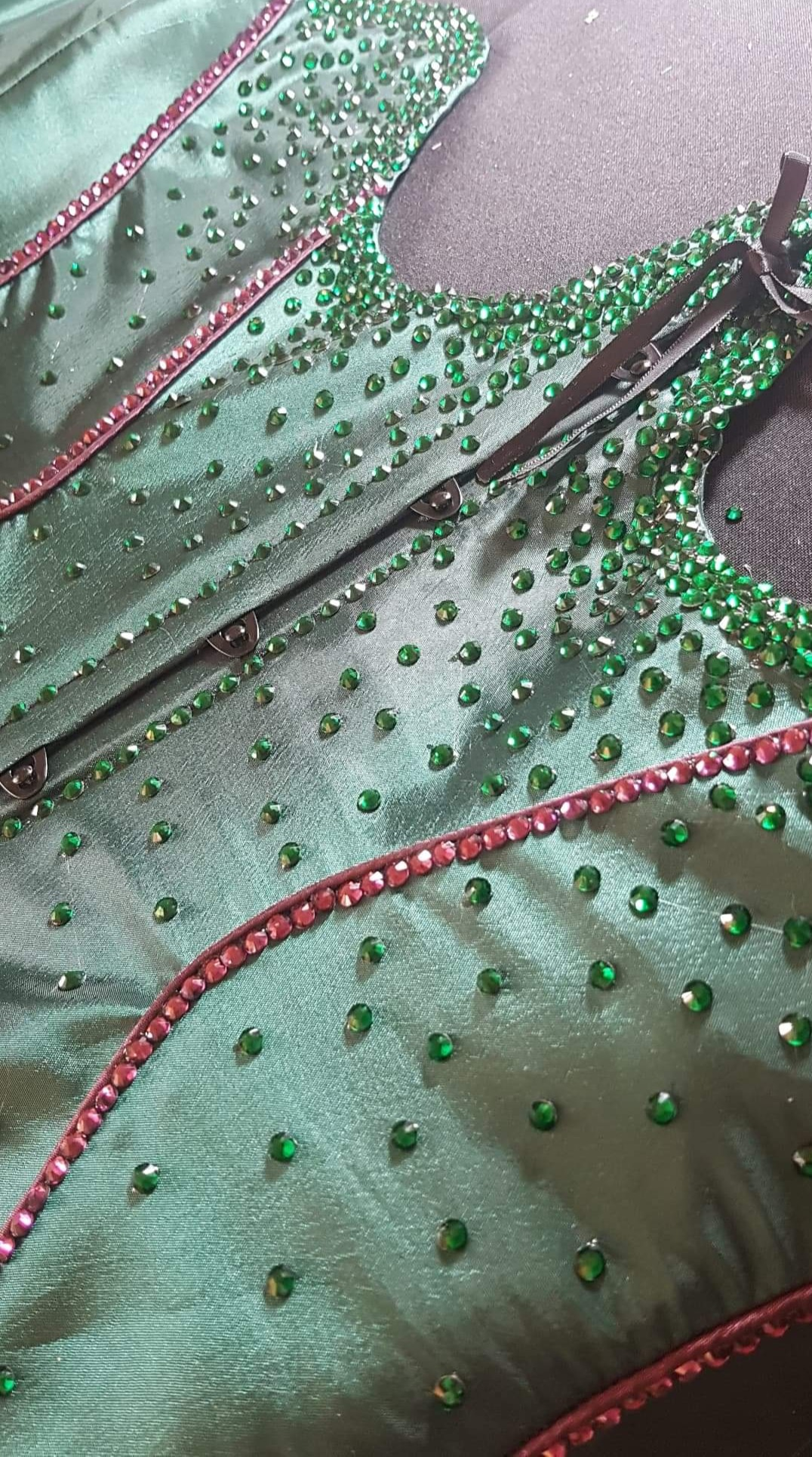 Clients rhinestoned corset