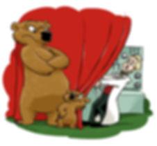 cartoon Phil Juliano, grizzly bears