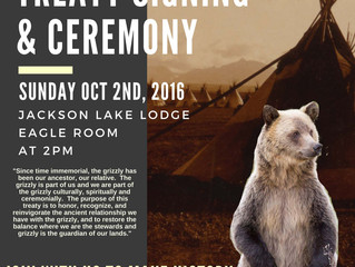Tribes Make History with Signing of Grizzly Bear Treaty