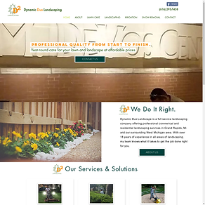 Dynamic Duo Landscaping Website