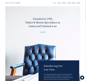 Website Template Example Attorney or Law Firm