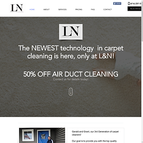 L&N Carpet Cleaning Website