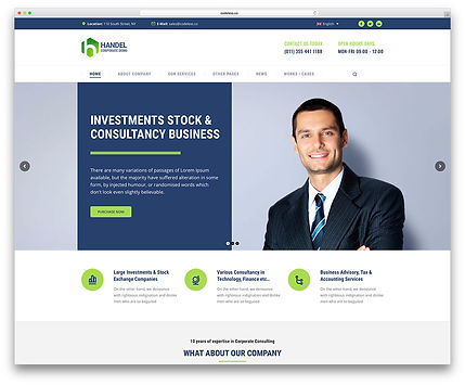 Sample Corporate Website Design