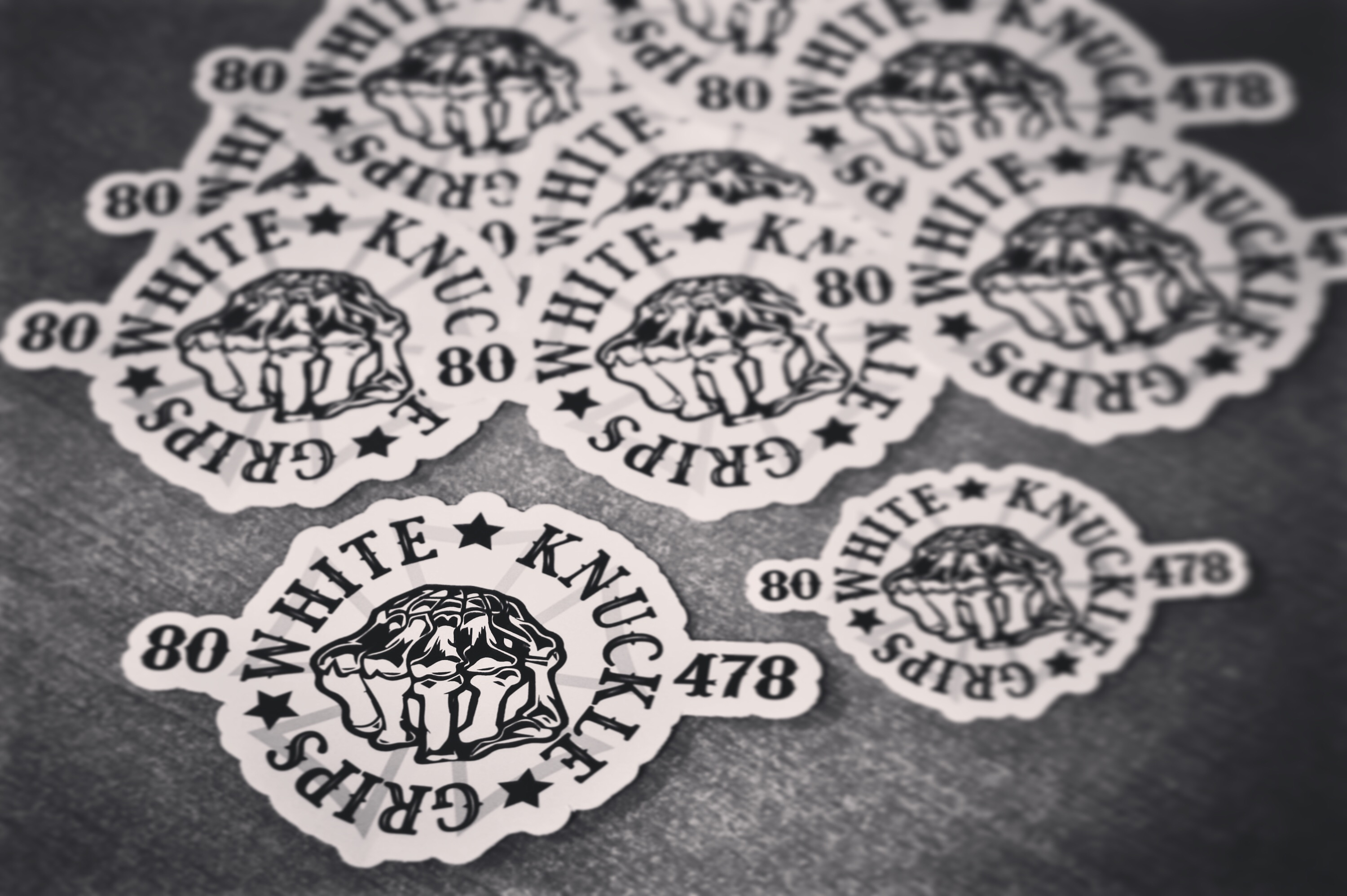 White Knuckle Grip Stickers