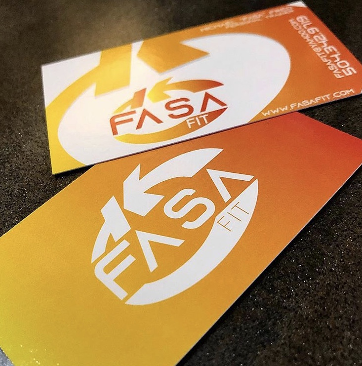 Fasa Fit Business Cards