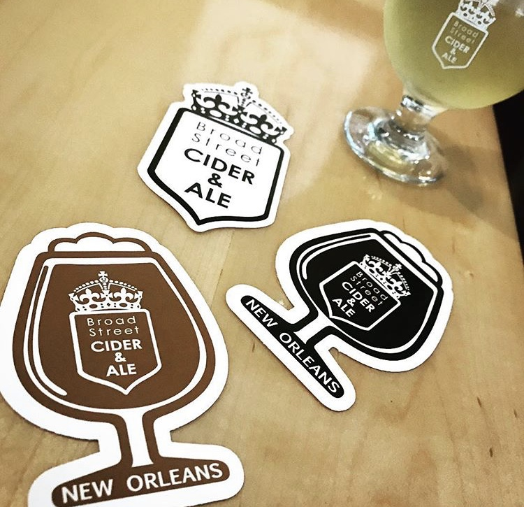 Broad Street Cider Stickers