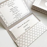 Luxe Collection - Wedding invitation in a custom pocket fold design with 3 layered inserts (RSVP, Gift Request, and Accommodation Informatio