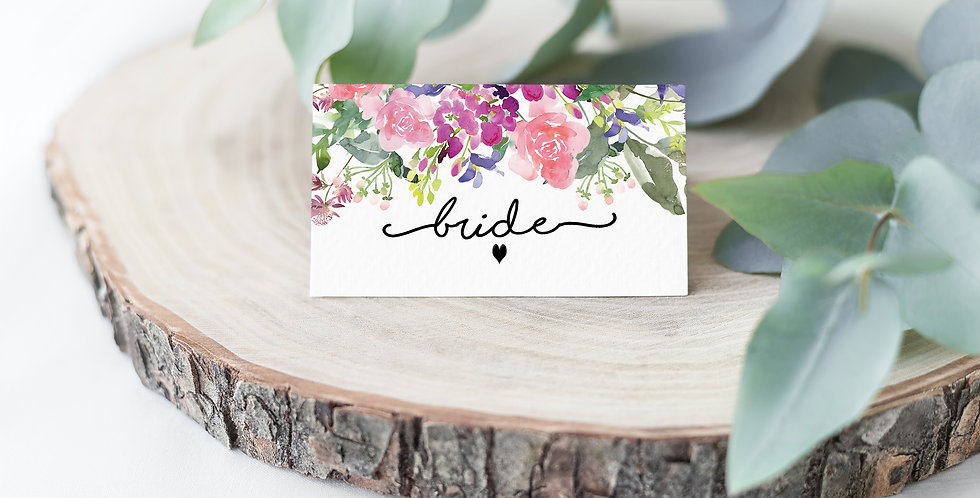 No. 6 | Wildflowers Place Card