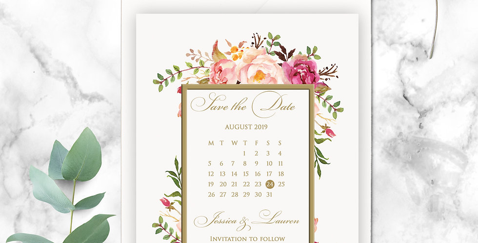 No 4. | Floral Blush Save the Date