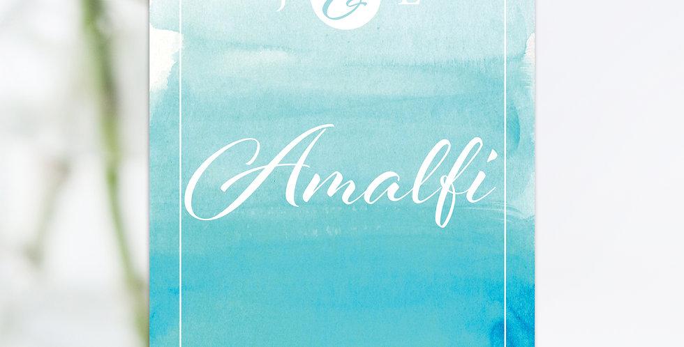 No.16 | Amalfi Names / Numbers