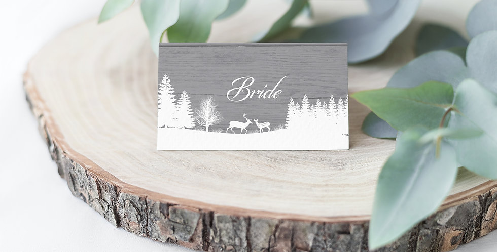 No.15 | Winter Place Card