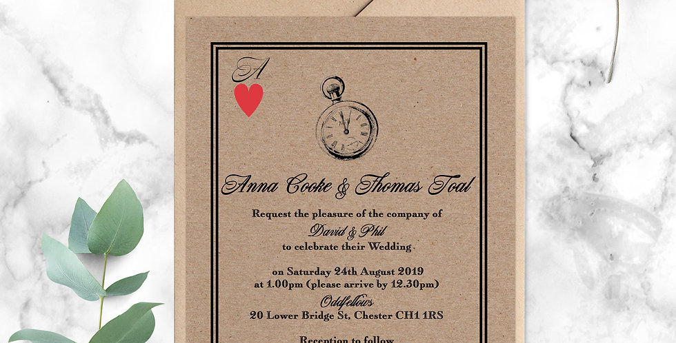 No 8. | A Very Important Date Wedding Invitation