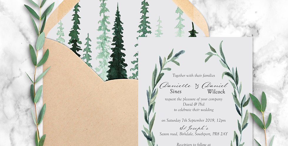 No.5 | Delamere Wedding Invitation