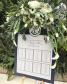 Nautical Table Plan & Order of Day for a wedding at _seftonparkpalmhouse ⚓️ Flowers by _redfloral