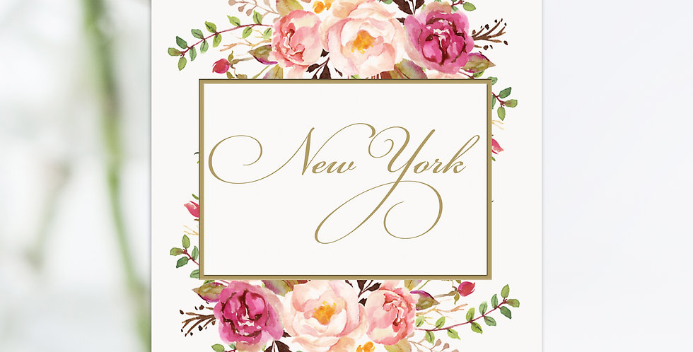 No 4. |  Floral Blush Table Names / Numbers