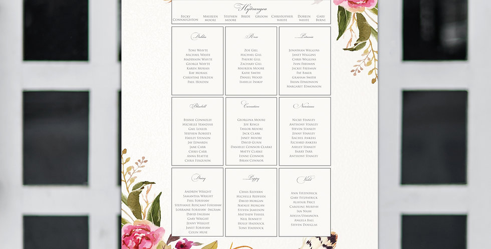 No.14 | Feathers & Flowers Table Plan