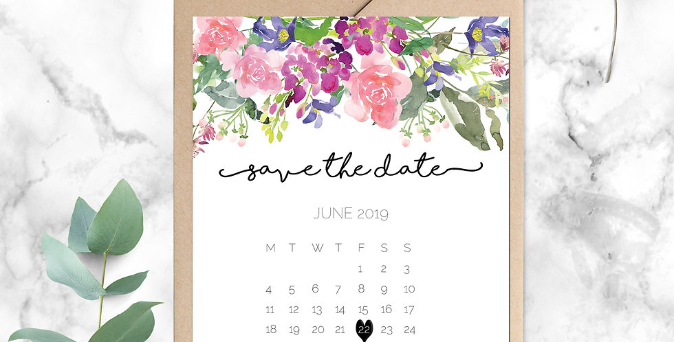 No 6. | Wildflowers Save the Date